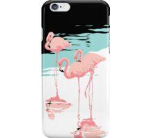 Pink Flamingos tropical retro pop art  iPhone Case/Skin