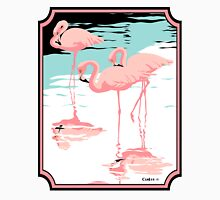 Pink Flamingos tropical retro pop art  Unisex T-Shirt