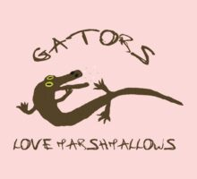 Gators Love Marshmallows One Piece - Short Sleeve