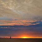Fall Sunset 2 by Debbie  Maglothin
