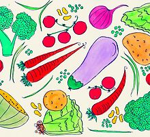 Vegetables!  by nichedrawings
