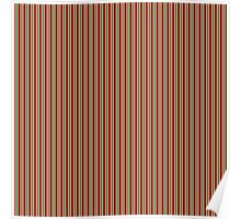 Red Green & White Christmas Stripes Poster