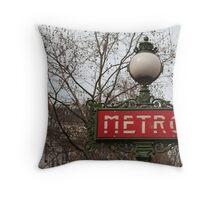 Le Metro, Paris. Throw Pillow