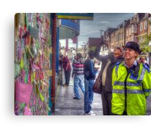 Reading the Wall of Hope - Peckham Canvas Print