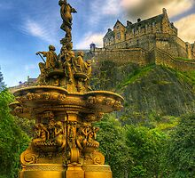 Edinburgh Castle & The Ross Monument by Don Alexander Lumsden (Echo7)