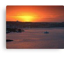 Sunrise over Halifax Harbour Canvas Print