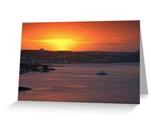 Sunrise over Halifax Harbour Greeting Card