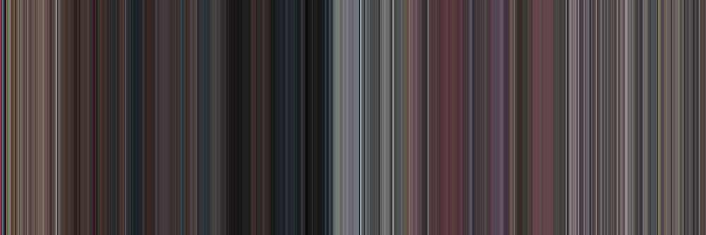 Moviebarcode: Death Proof (2007) [Simplified Colors] by moviebarcode