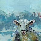 Narrow Colorful Sheep Art by MikeJory