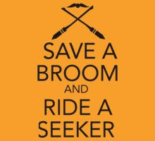 Save a Broom, Ride a Seeker (BLACK) T-Shirt
