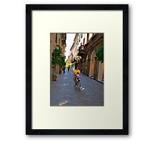 Milano Bike Ride Framed Print