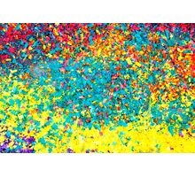 Vivid colours abstract Photographic Print