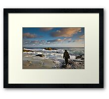 JESUS-FOLLOW ME AND I WILL MAKE YOU FISHERS OF MEN. Framed Print