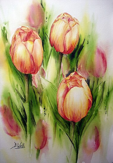 Tulips by Bev  Wells