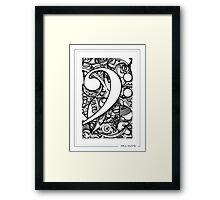 BASS CLEF DOODLE Framed Print
