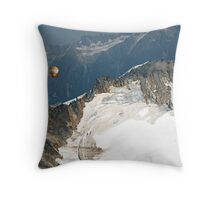 Flying the Glaciers. Throw Pillow