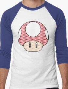 nintendo Mushroom Men's Baseball ¾ T-Shirt