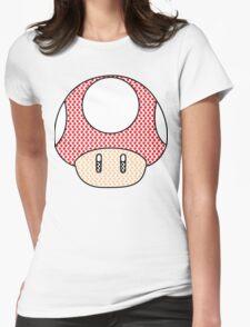 nintendo Mushroom Womens Fitted T-Shirt