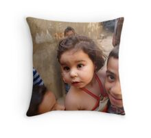 Collateral Damage Throw Pillow