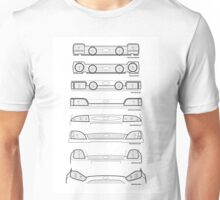 Ford Fiesta grills from past to present Unisex T-Shirt