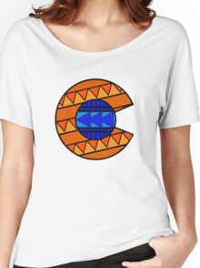 Tribal C Flag Broncos Women's Relaxed Fit T-Shirt