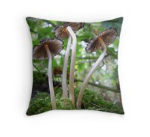 Fungi in the woods Throw Pillow