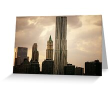 New York by Gehry and the New York City Skyline Greeting Card