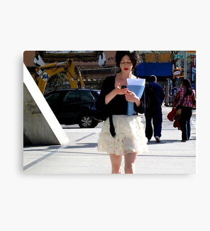 NYC Texting Canvas Print