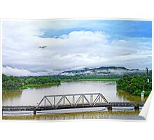 Mist Bridge Poster