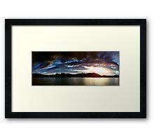 Lakes Sunset Framed Print