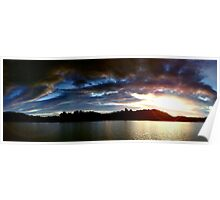 Lakes Sunset Poster