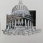 Wisconsin Capital building stencil  by AlbertLake