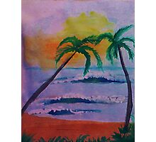 Serenity at its best, watercolor Photographic Print
