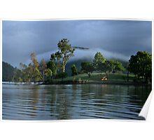 Mist over Lake Moogerah  Poster