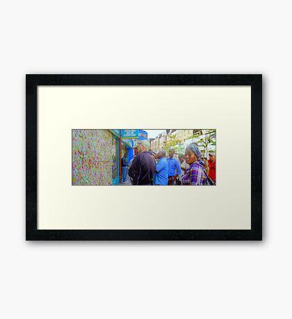 Gathering after the Riots - Peckham Framed Print