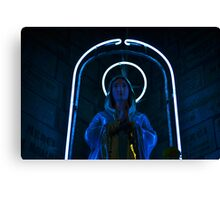 Neon Mary Canvas Print