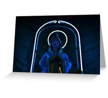 Neon Mary Greeting Card