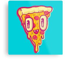 Pizza Face Buddy Metal Print