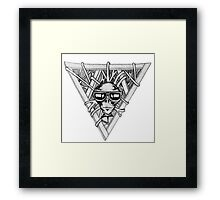 sci fi triangle  Framed Print