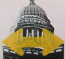 Wisconsin Capital two way stencil  by AlbertLake