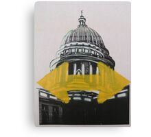 Wisconsin Capital two way stencil  Canvas Print