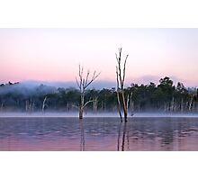 Misty Morning -Moogerah Dam Photographic Print