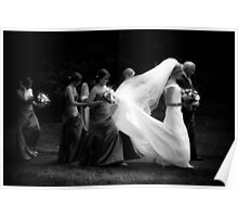 Bride walking to the Church Poster