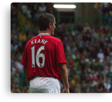 Roy Keane 16 - Manchester United Legend Canvas Print