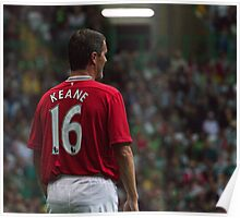 Roy Keane 16 - Manchester United Legend Poster