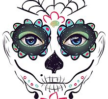 Day of Dead Girl Face 3 by AnnArtshock