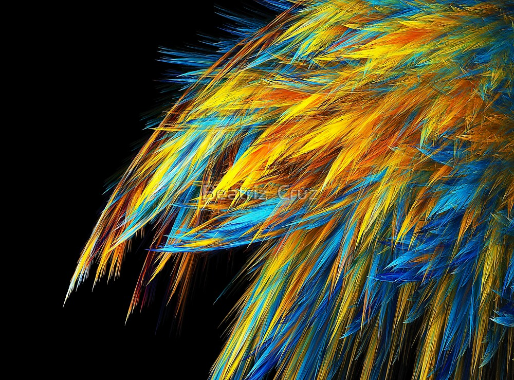 Blue and Gold Feathering by Beatriz  Cruz