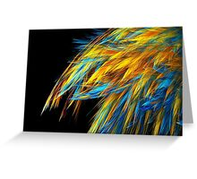 Blue and Gold Feathering Greeting Card