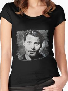 Johnny Depp  Women's Fitted Scoop T-Shirt