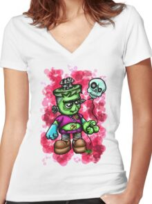 Baby Frankie Women's Fitted V-Neck T-Shirt